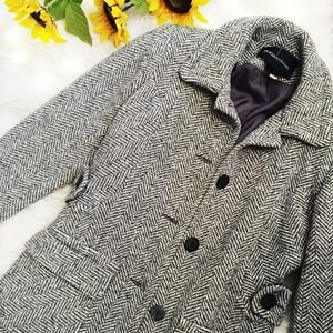 Gray Long Winter Wool Coat